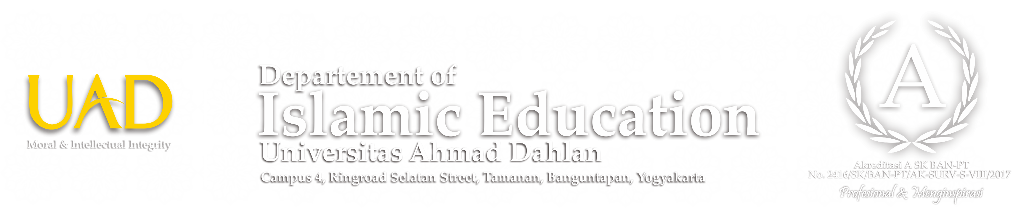 Departement of Islamic Education